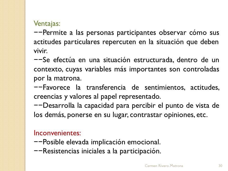 −−Posible elevada implicación emocional.
