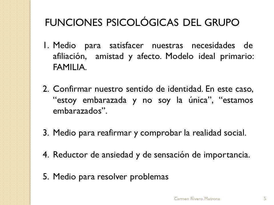 FUNCIONES PSICOLÓGICAS DEL GRUPO