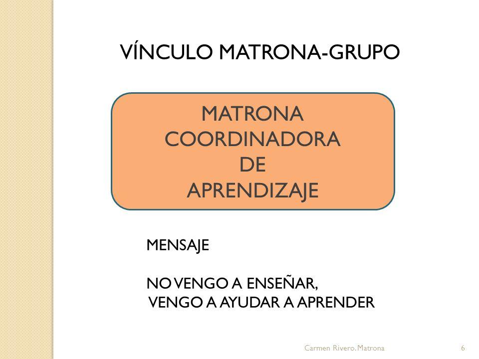 VÍNCULO MATRONA-GRUPO