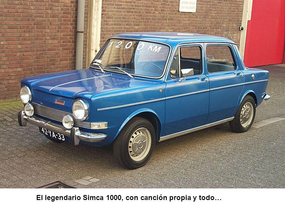 El legendario Simca 1000, con canción propia y todo…