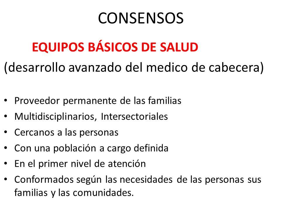 CONSENSOS (desarrollo avanzado del medico de cabecera)