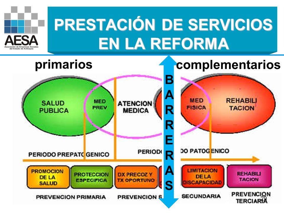 PRESTACIÓN DE SERVICIOS EN LA REFORMA