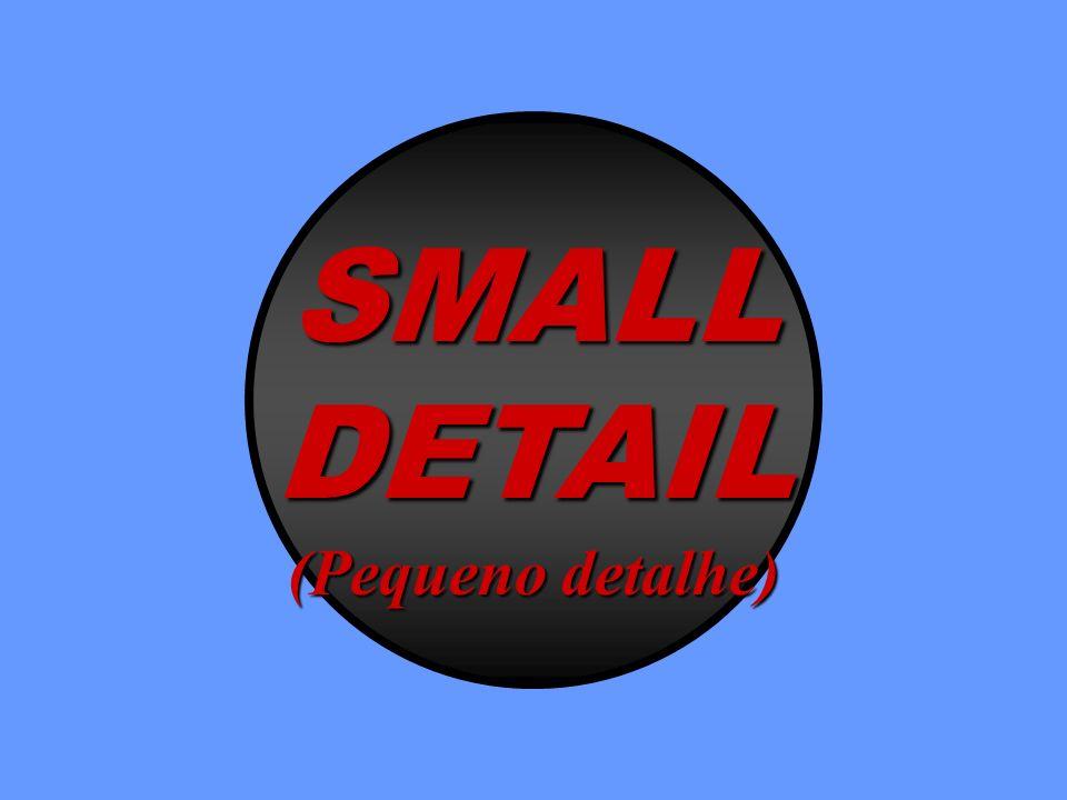 SMALL DETAIL (Pequeno detalhe)