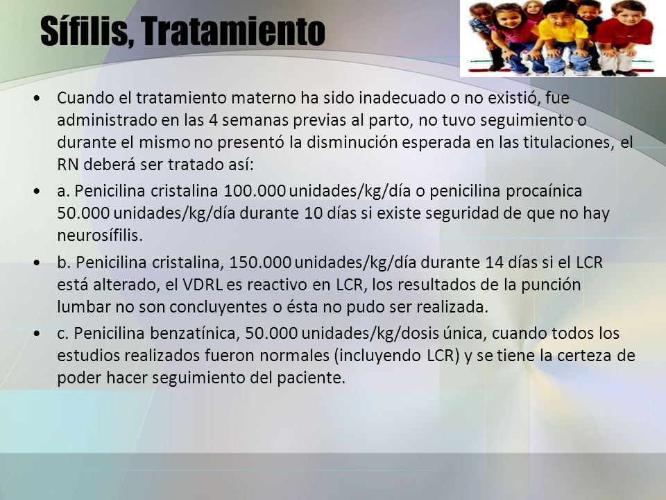 Sífilis, Tratamiento