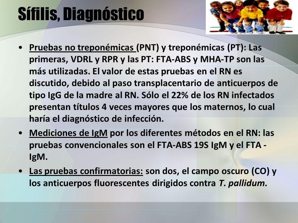 Sífilis, Diagnóstico