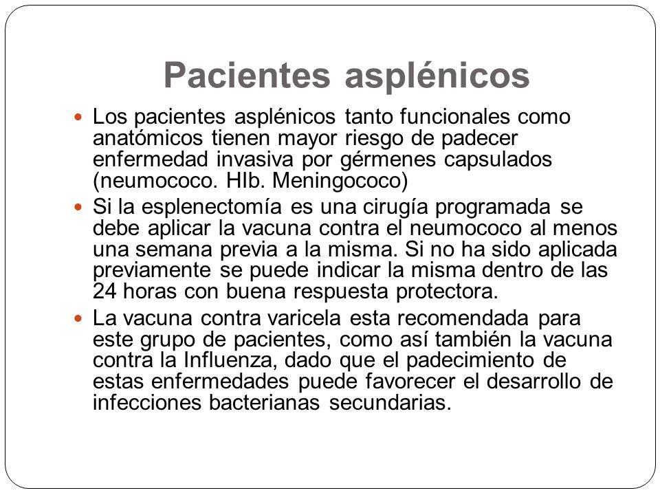 Pacientes asplénicos