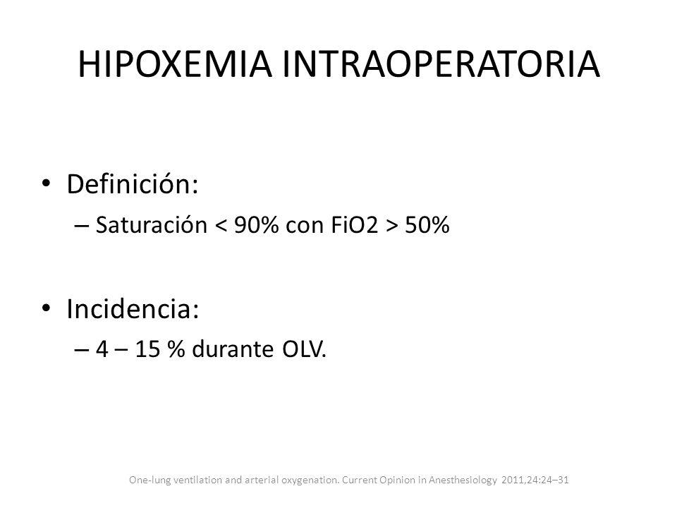 HIPOXEMIA INTRAOPERATORIA