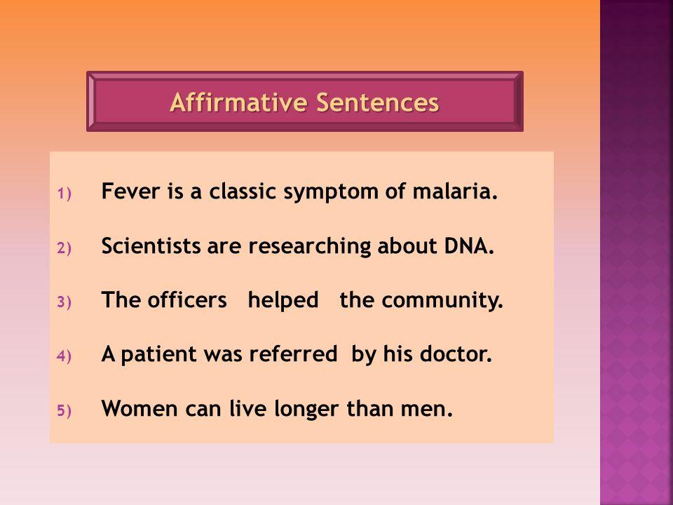 Affirmative Sentences