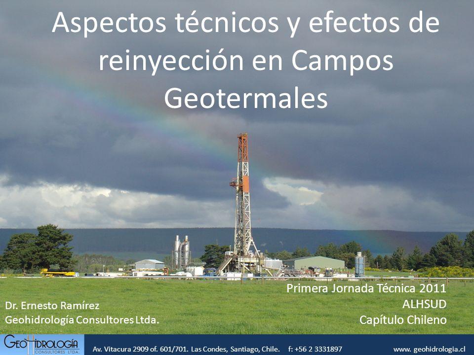Aspectos técnicos y efectos de reinyección en Campos Geotermales