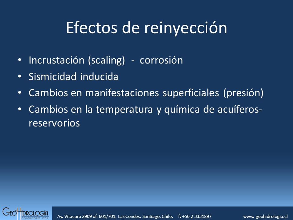 Efectos de reinyección