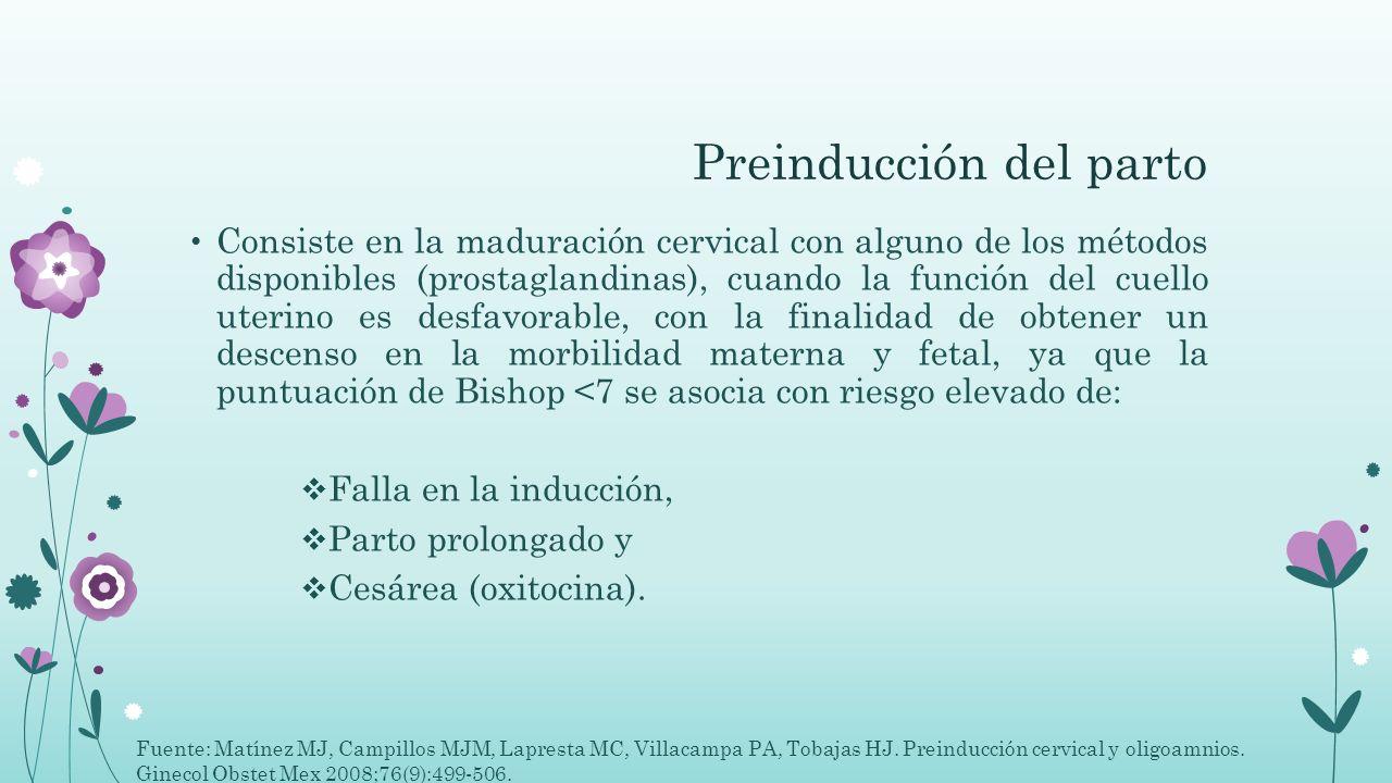 Preinducción del parto