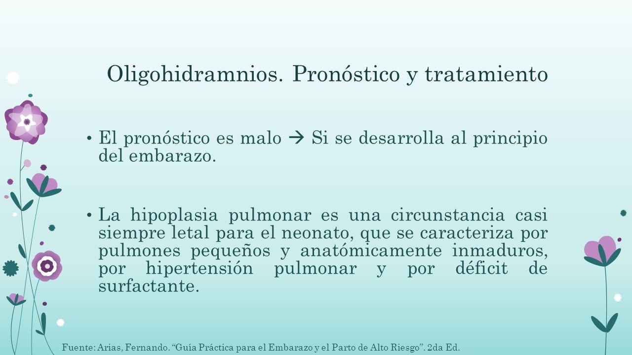Oligohidramnios. Pronóstico y tratamiento