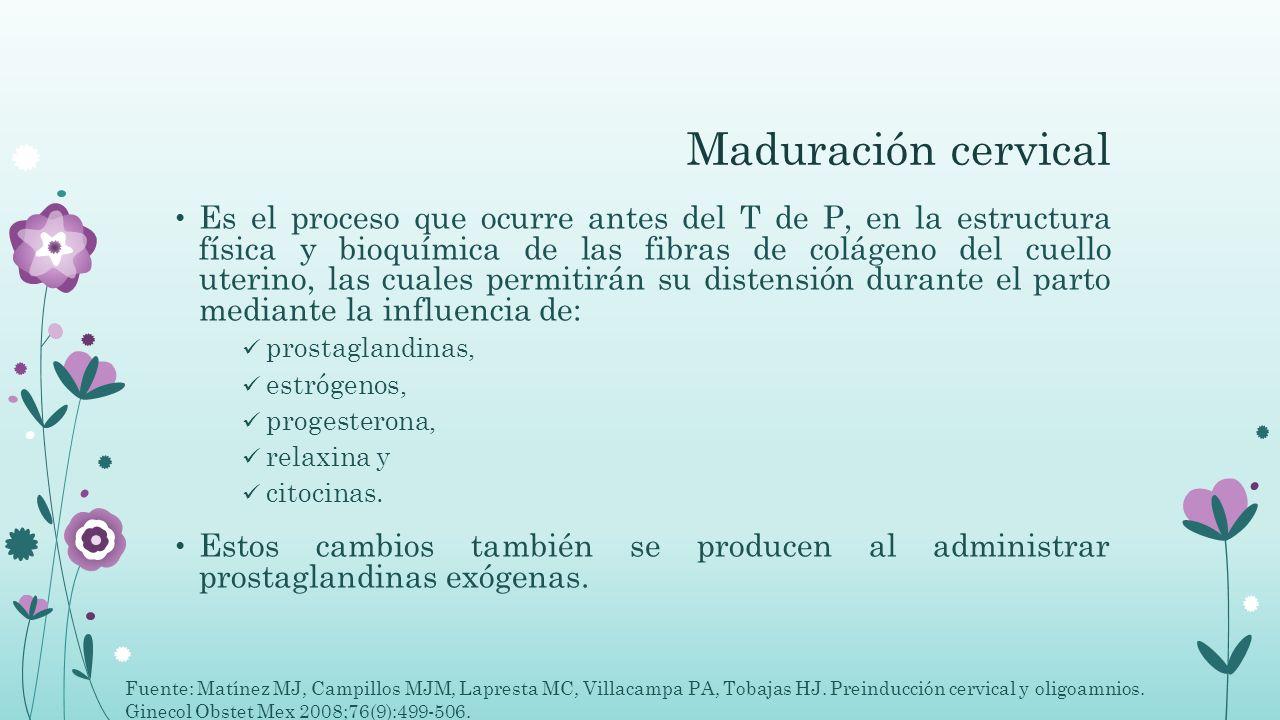 Maduración cervical