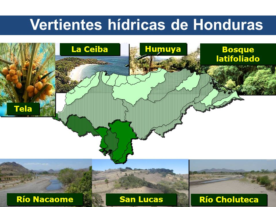Vertientes hídricas de Honduras