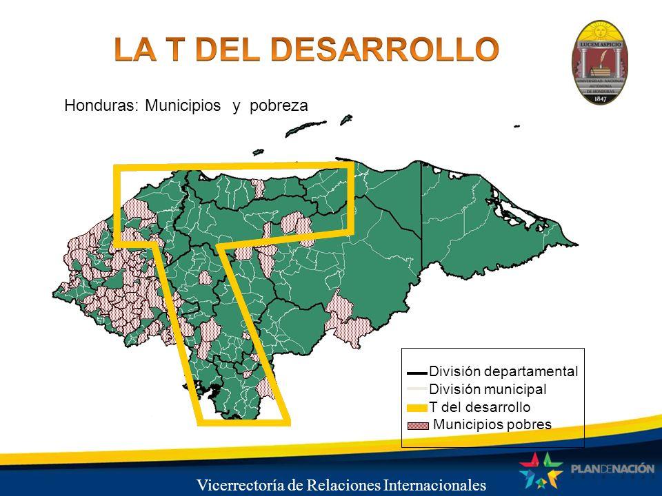 LA T DEL DESARROLLO Honduras: Municipios y pobreza