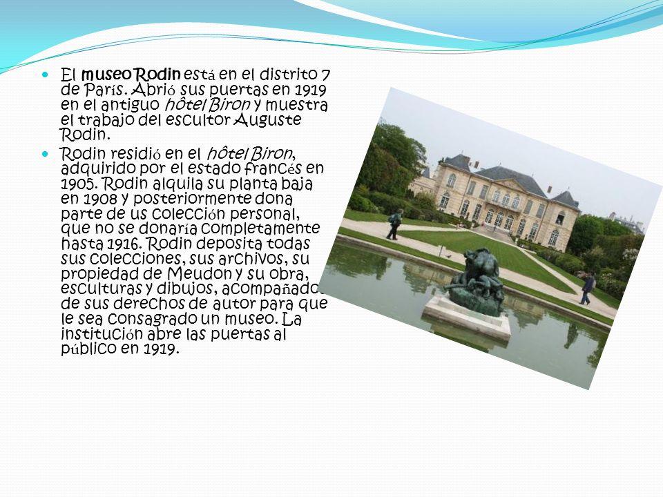 El museo Rodin está en el distrito 7 de París