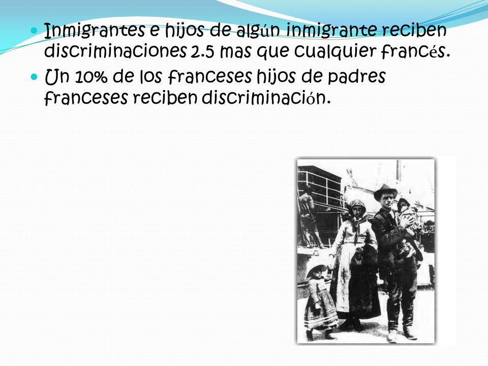 Inmigrantes e hijos de algún inmigrante reciben discriminaciones 2