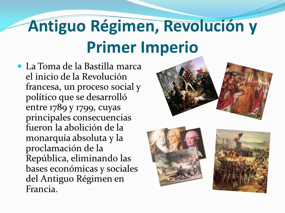 Antiguo Régimen, Revolución y Primer Imperio
