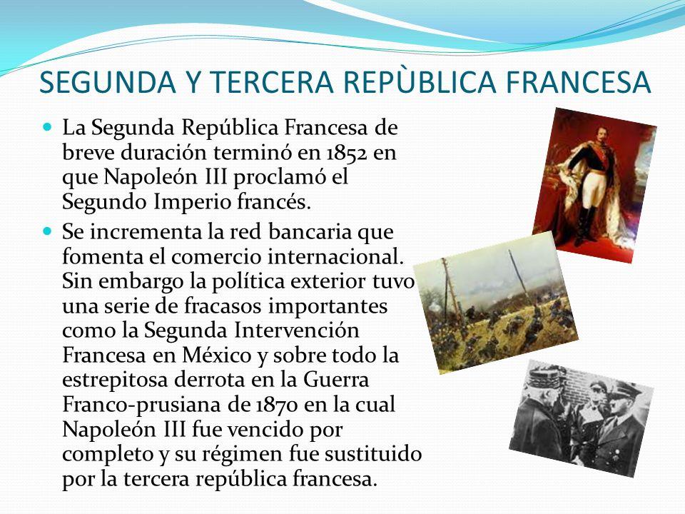 SEGUNDA Y TERCERA REPÙBLICA FRANCESA