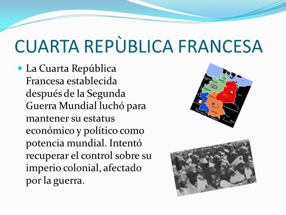 CUARTA REPÙBLICA FRANCESA