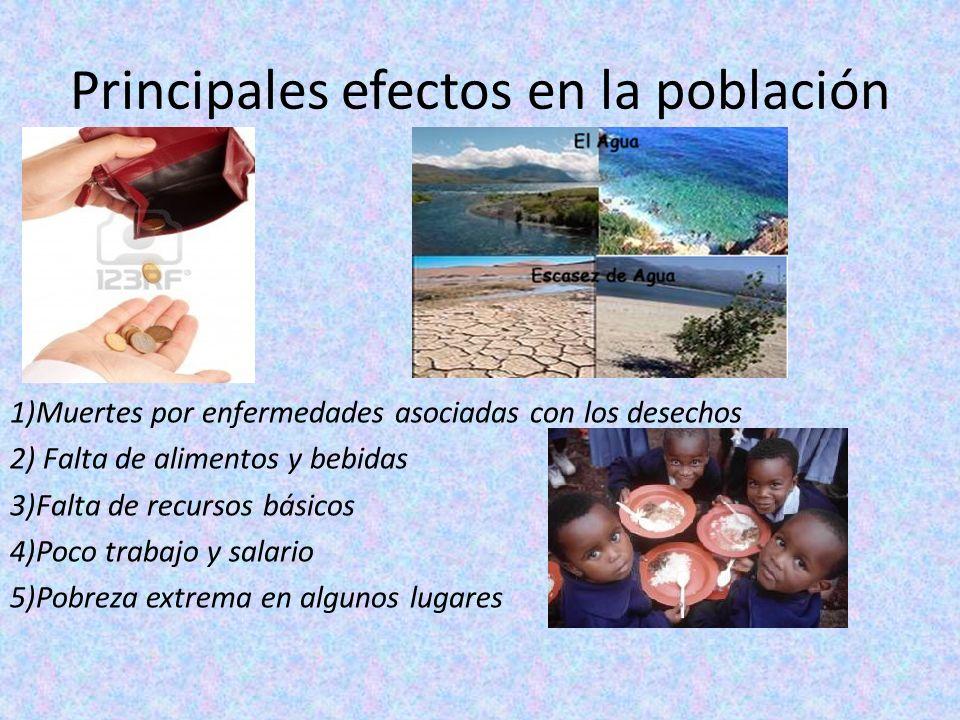 Principales efectos en la población