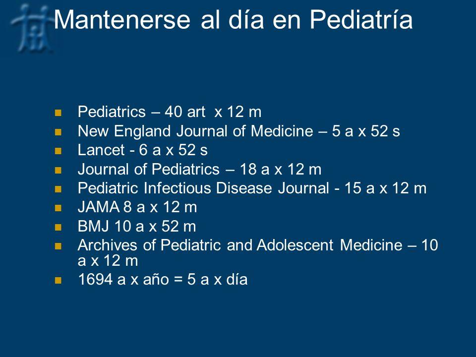 Mantenerse al día en Pediatría
