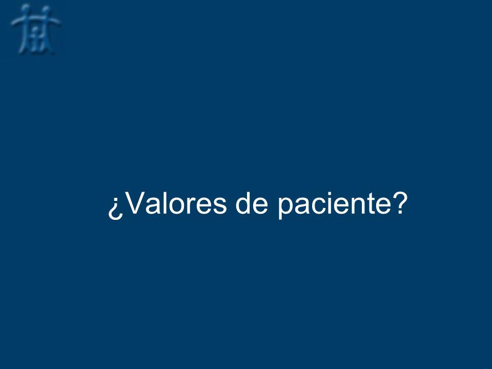 ¿Valores de paciente