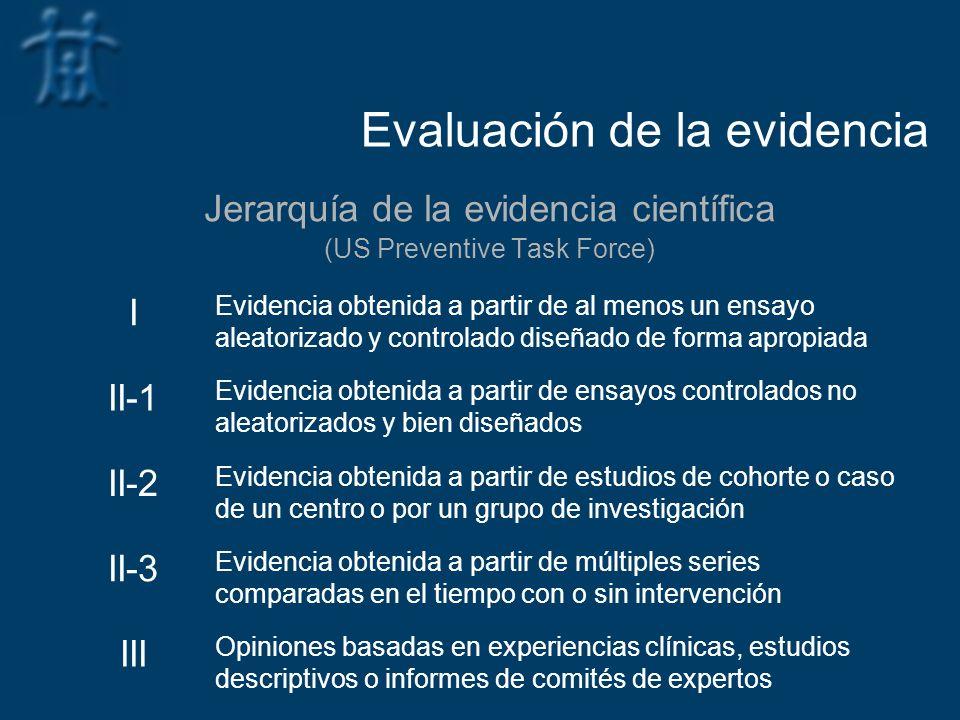 Evaluación de la evidencia