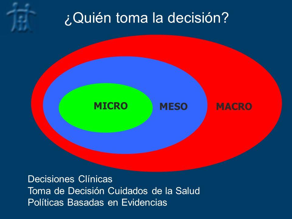 ¿Quién toma la decisión
