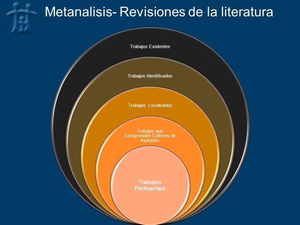 Metanalisis- Revisiones de la literatura