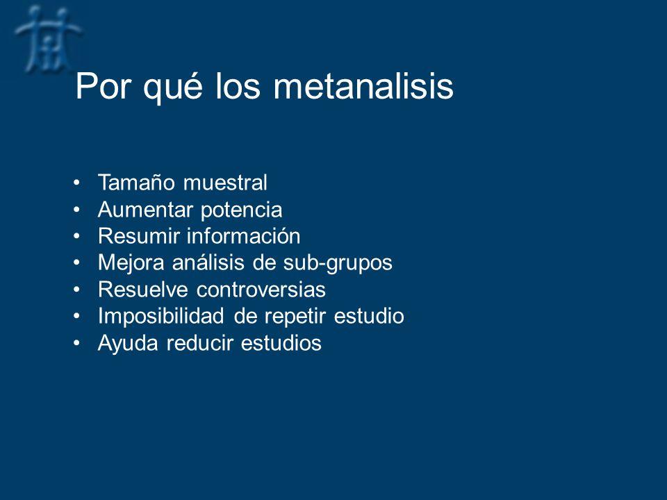 Por qué los metanalisis