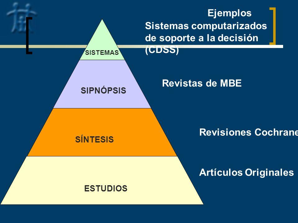 Sistemas computarizados de soporte a la decisión (CDSS)