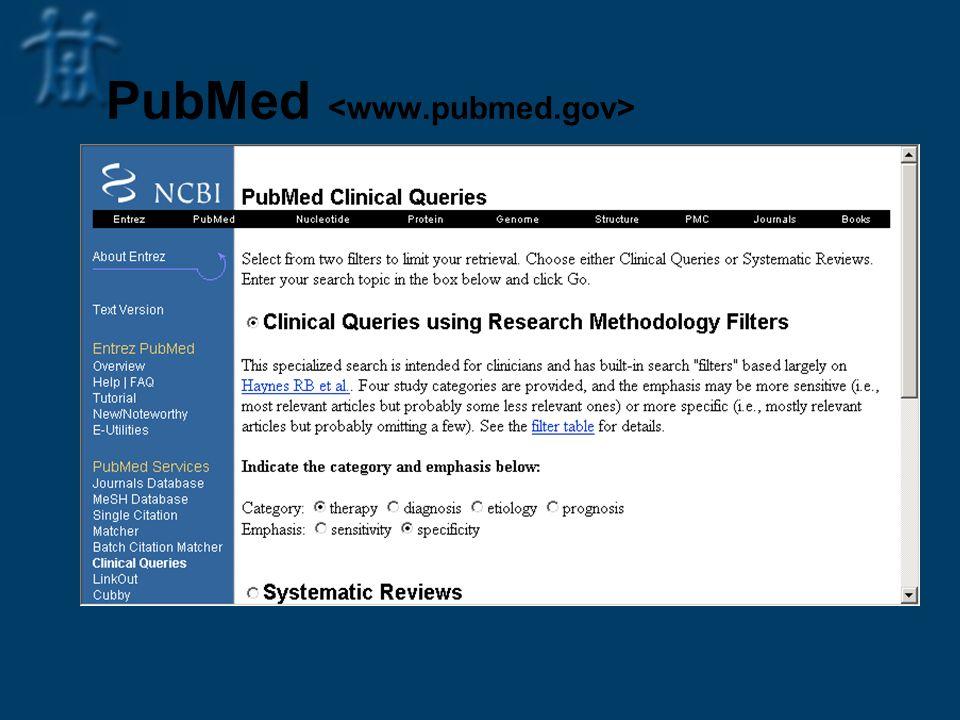 PubMed <www.pubmed.gov>
