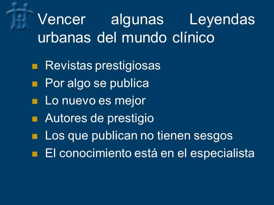 Vencer algunas Leyendas urbanas del mundo clínico