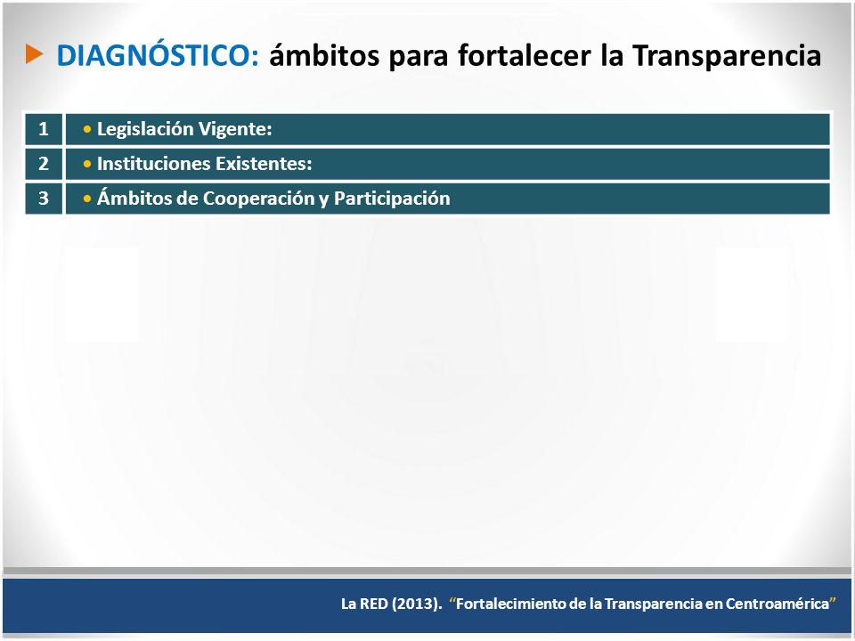  DIAGNÓSTICO: ámbitos para fortalecer la Transparencia