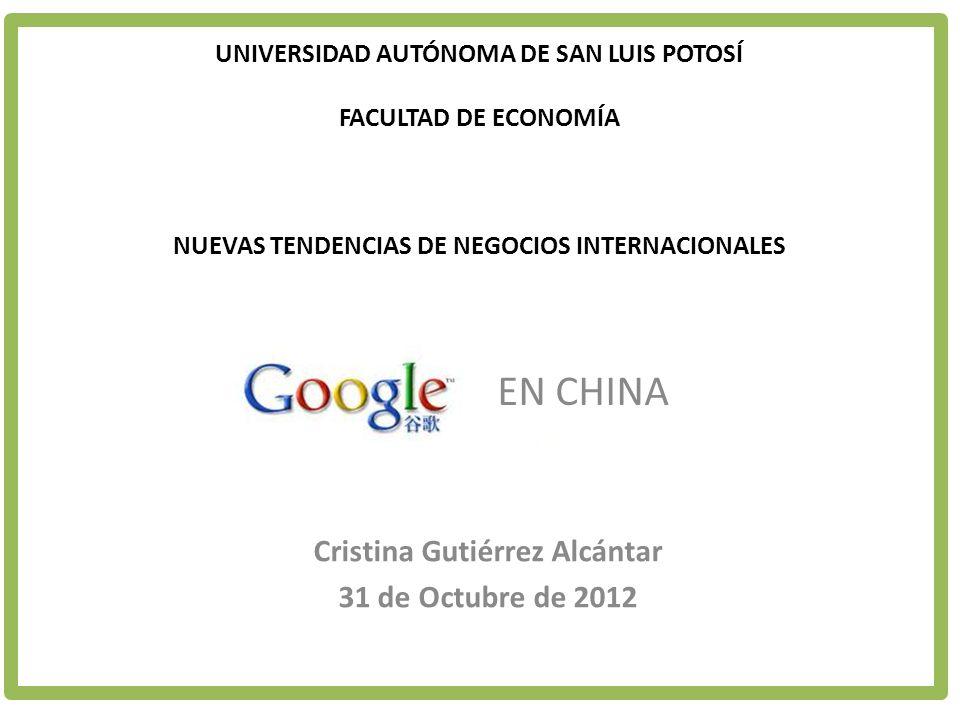 Cristina Gutiérrez Alcántar 31 de Octubre de 2012