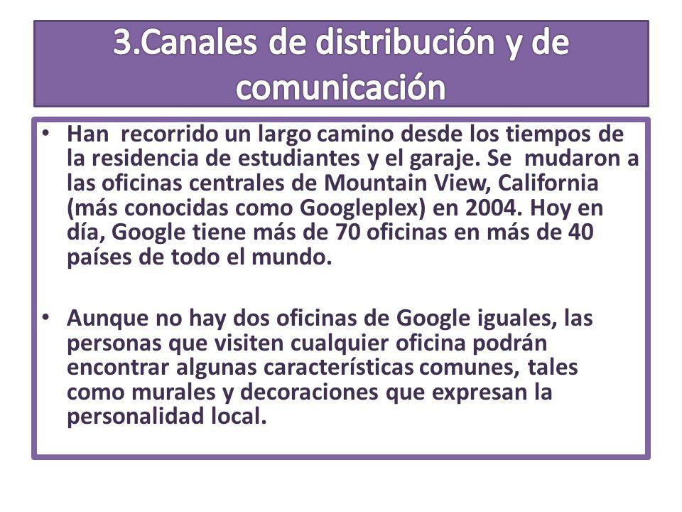 3.Canales de distribución y de comunicación