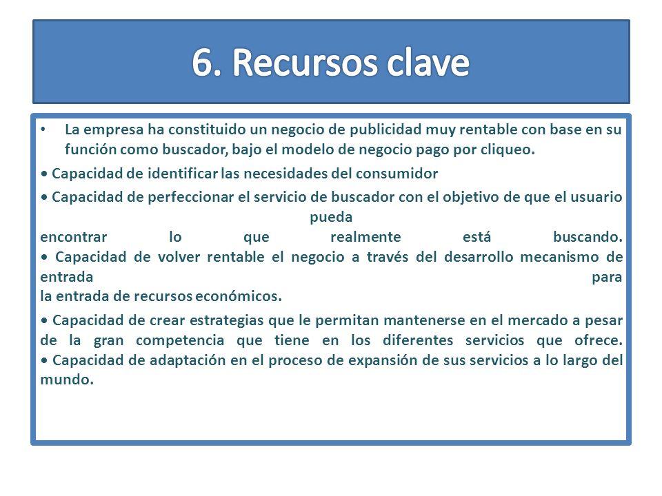 6. Recursos clave