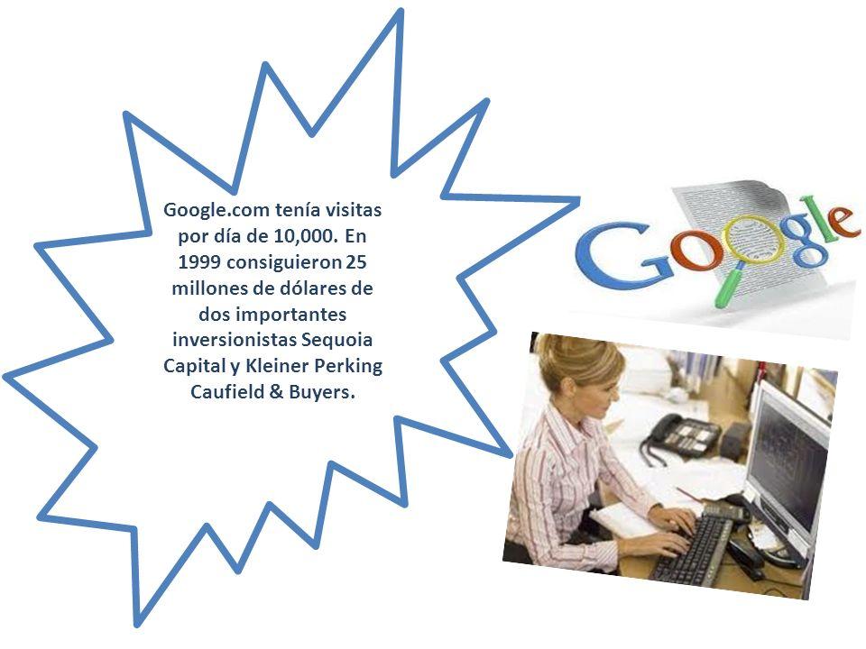 Google. com tenía visitas por día de 10,000
