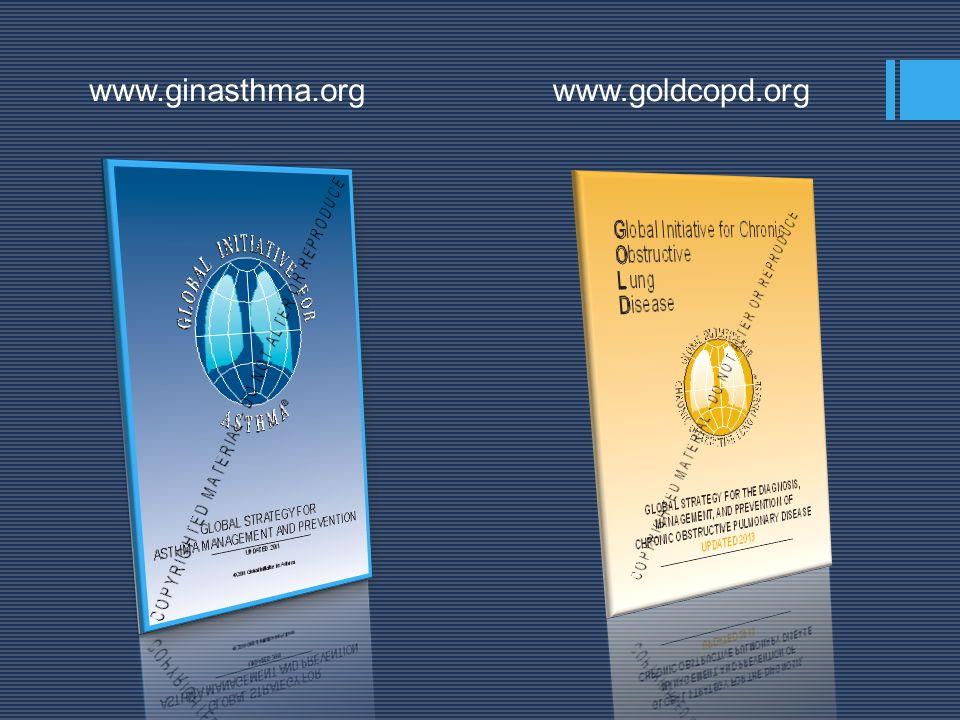 www.ginasthma.org www.goldcopd.org