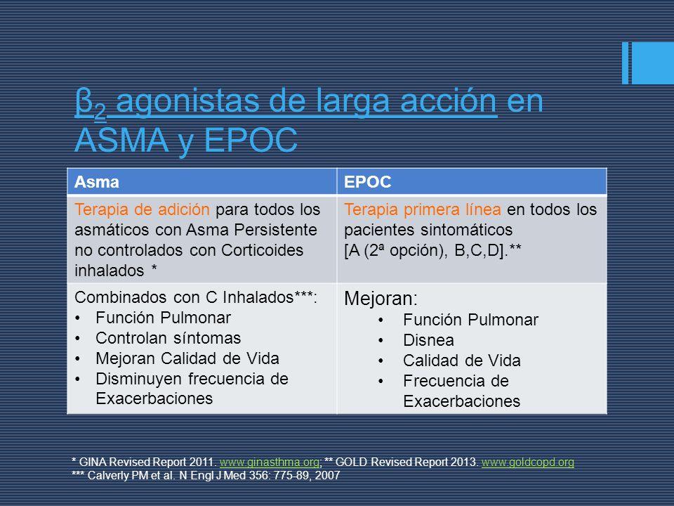 β2 agonistas de larga acción en ASMA y EPOC