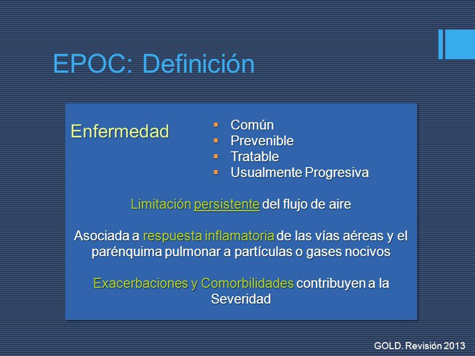EPOC: Definición Enfermedad Común Prevenible Tratable