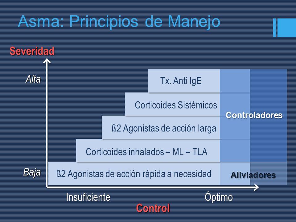 Asma: Principios de Manejo
