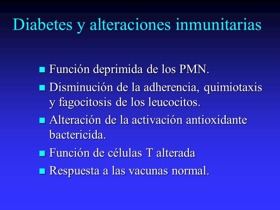Diabetes y alteraciones inmunitarias