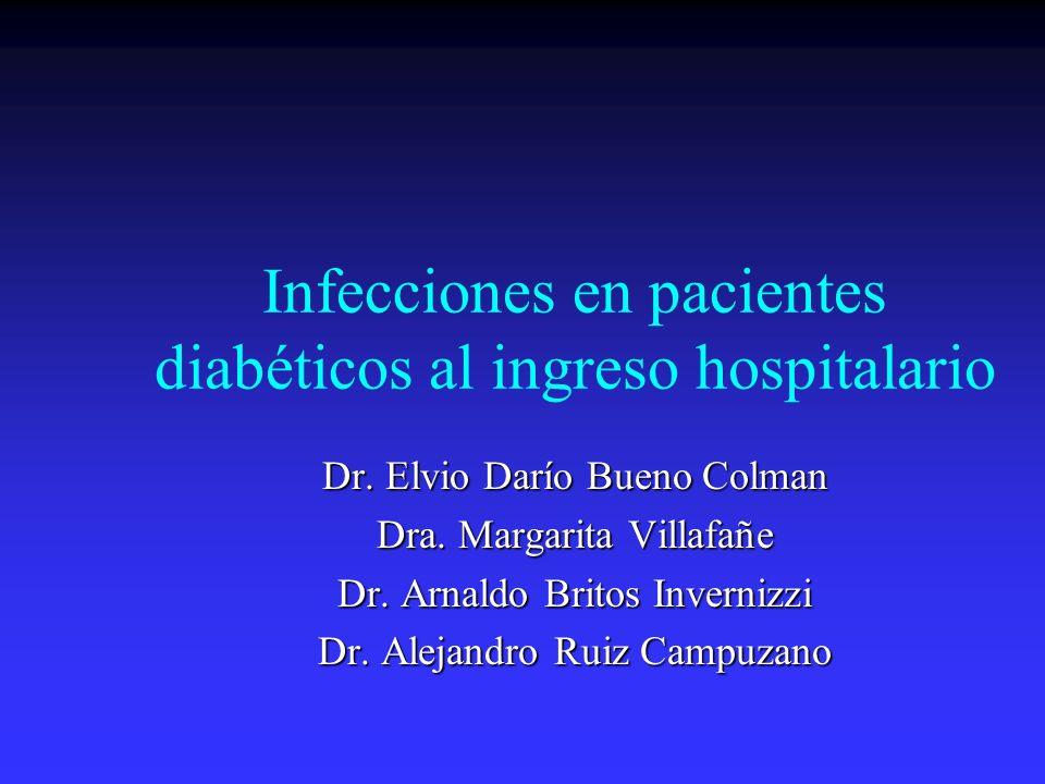 Infecciones en pacientes diabéticos al ingreso hospitalario
