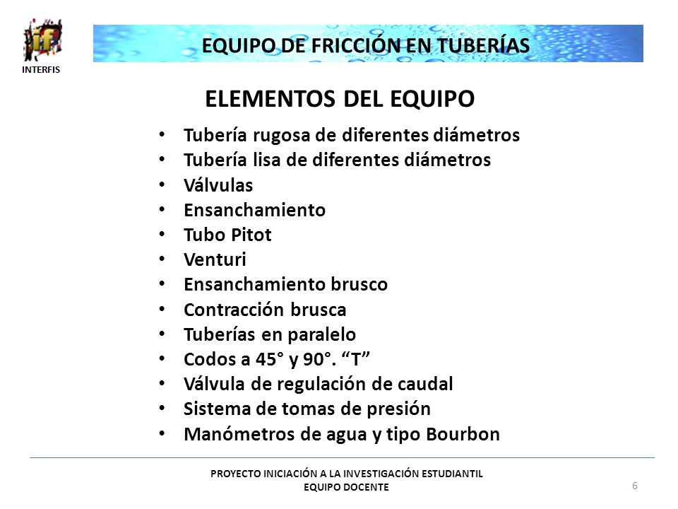 EQUIPO DE FRICCIÓN EN TUBERÍAS