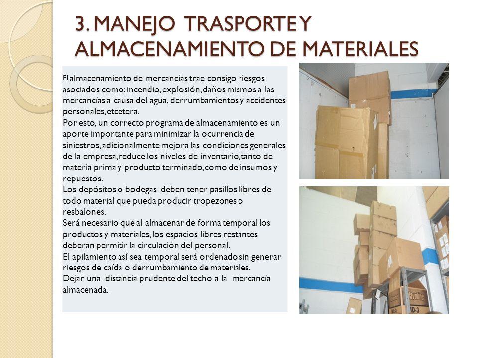 3. MANEJO TRASPORTE Y ALMACENAMIENTO DE MATERIALES