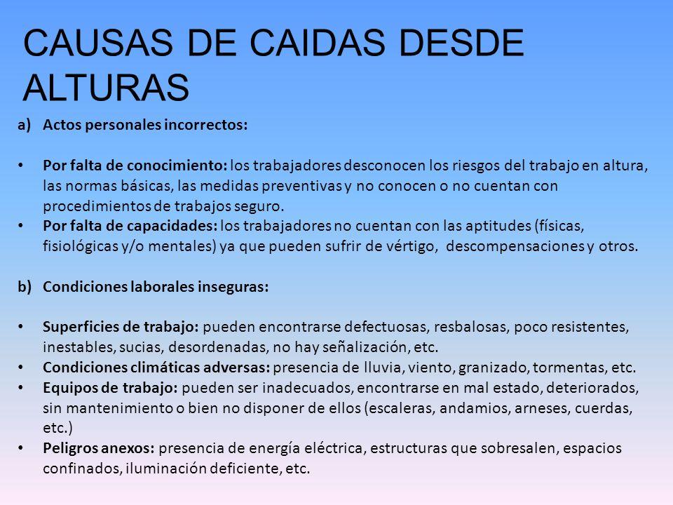 CAUSAS DE CAIDAS DESDE ALTURAS