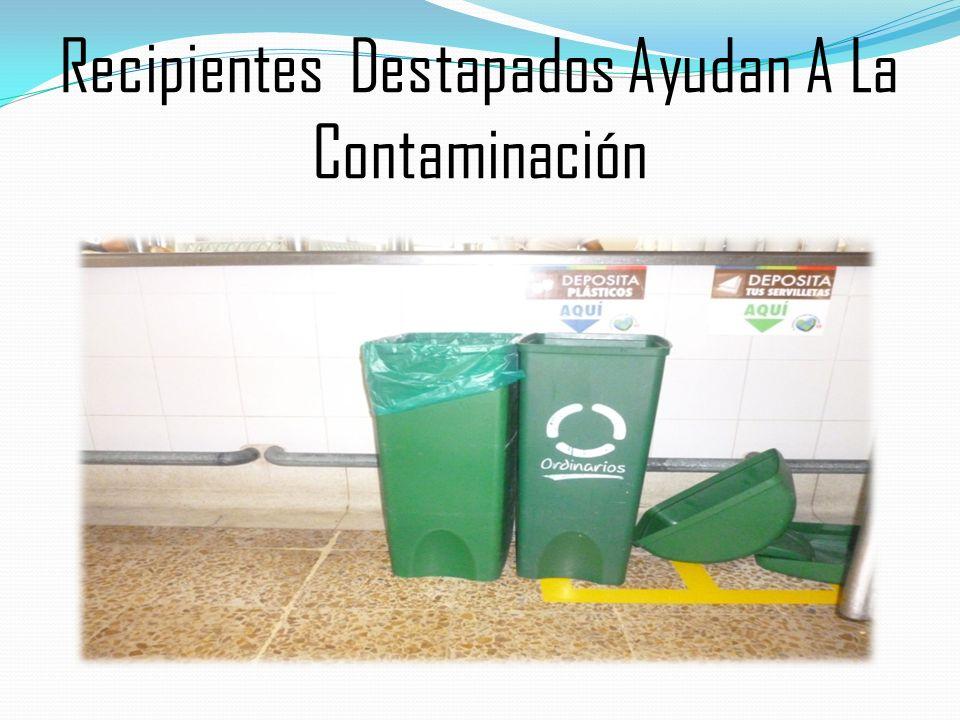 Recipientes Destapados Ayudan A La Contaminación