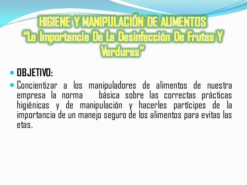 HIGIENE Y MANIPULACIÓN DE ALIMENTOS La Importancia De La Desinfección De Frutas Y Verduras